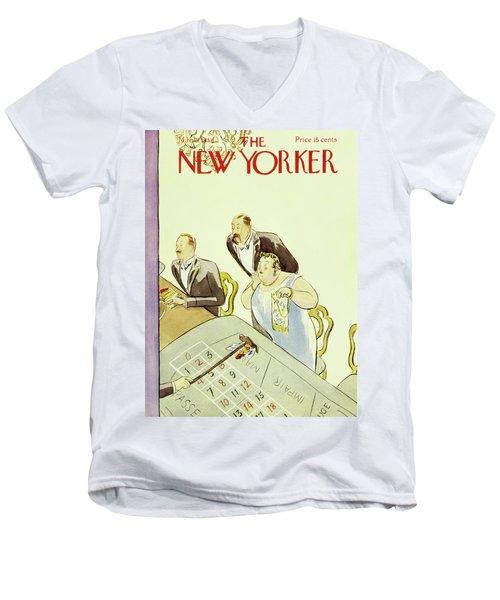 New Yorker March 3 1931 Men's V-Neck T-Shirt