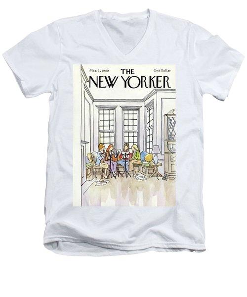New Yorker March 3rd, 1980 Men's V-Neck T-Shirt