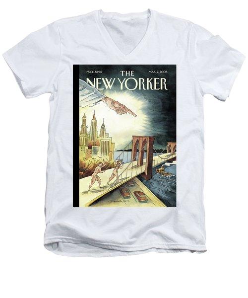 New Yorker March 7, 2005 Men's V-Neck T-Shirt