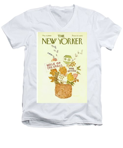 New Yorker May 10th, 1969 Men's V-Neck T-Shirt