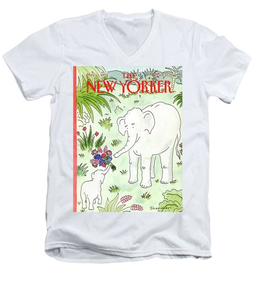 New Yorker May 11th, 1992 Men's V-Neck T-Shirt