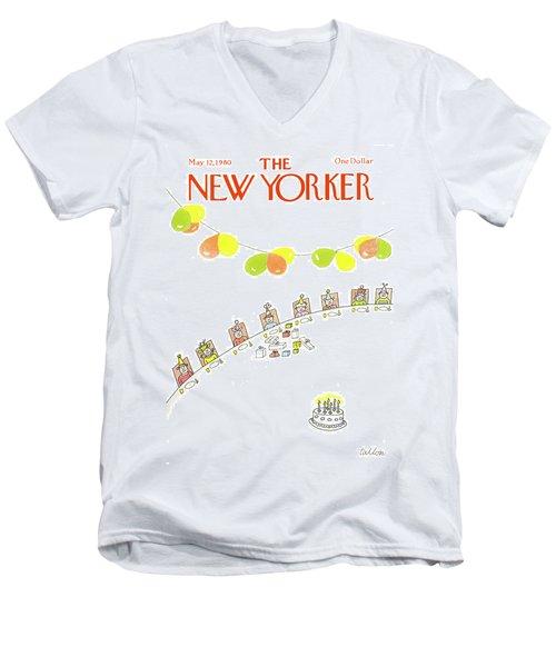 New Yorker May 12th, 1980 Men's V-Neck T-Shirt