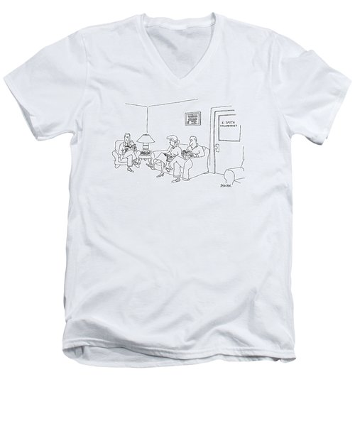 New Yorker May 12th, 1997 Men's V-Neck T-Shirt by Jack Ziegler