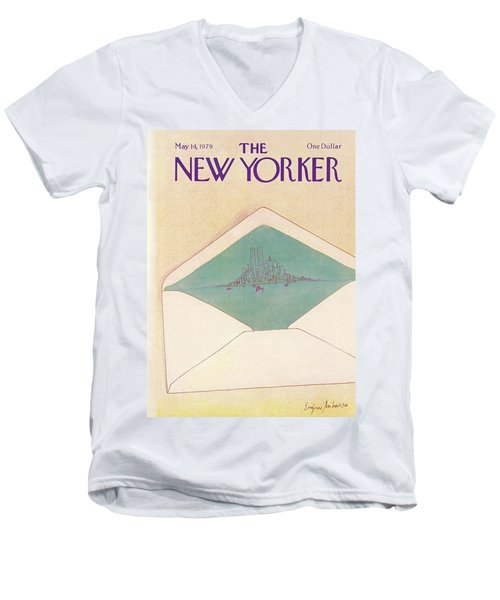 New Yorker May 14th, 1979 Men's V-Neck T-Shirt