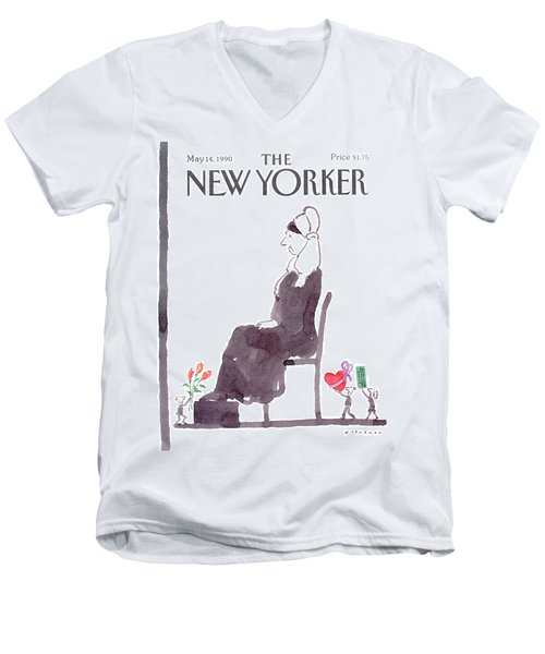 New Yorker May 14th, 1990 Men's V-Neck T-Shirt