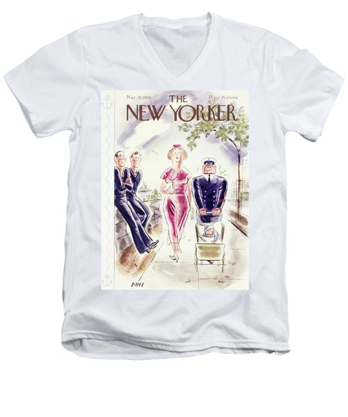 New Yorker May 20 1939 Men's V-Neck T-Shirt