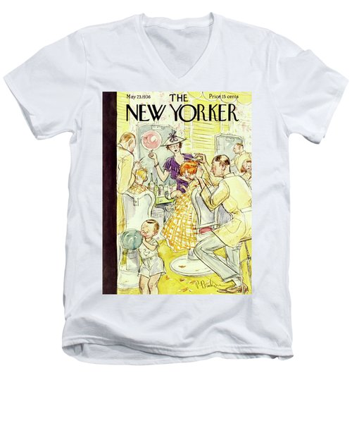New Yorker May 23 1936 Men's V-Neck T-Shirt