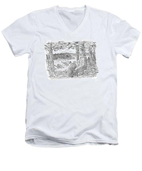 New Yorker May 25th, 1998 Men's V-Neck T-Shirt