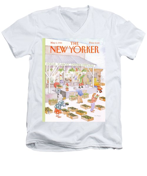 New Yorker May 6th, 1985 Men's V-Neck T-Shirt