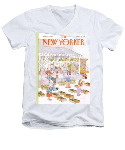New Yorker May 6th, 1985 Men's V-Neck T-Shirt
