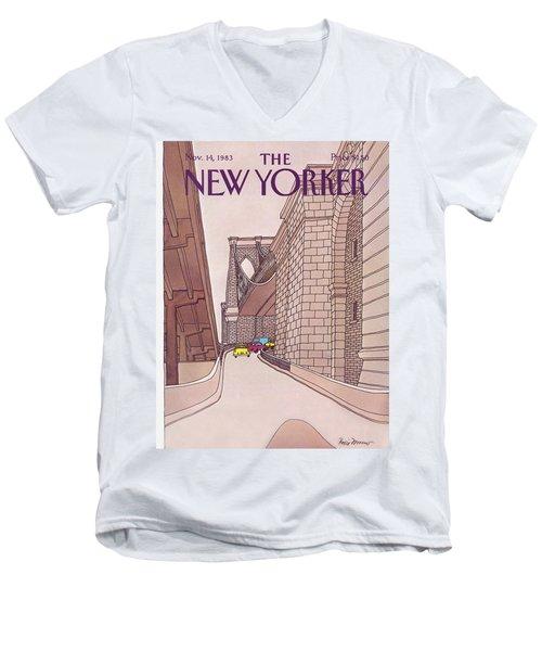 New Yorker November 14th, 1983 Men's V-Neck T-Shirt