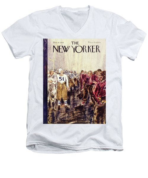 New Yorker November 16 1940 Men's V-Neck T-Shirt