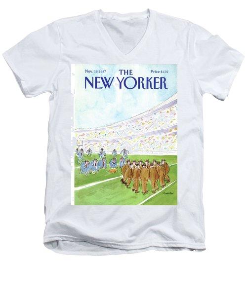 New Yorker November 16th, 1987 Men's V-Neck T-Shirt