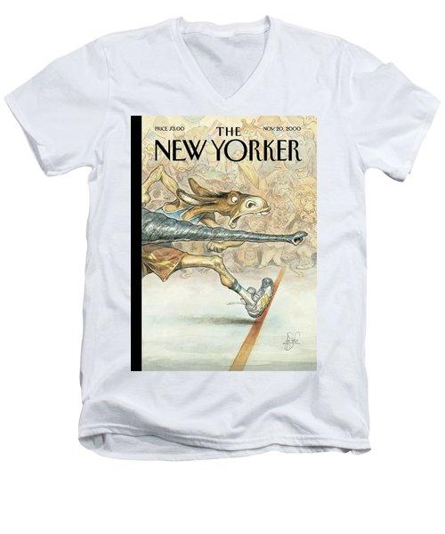 New Yorker November 20th, 2000 Men's V-Neck T-Shirt