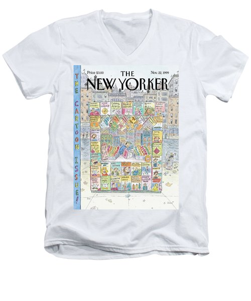 New Yorker November 22nd, 1999 Men's V-Neck T-Shirt