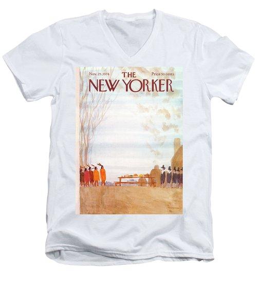 New Yorker November 25th, 1974 Men's V-Neck T-Shirt