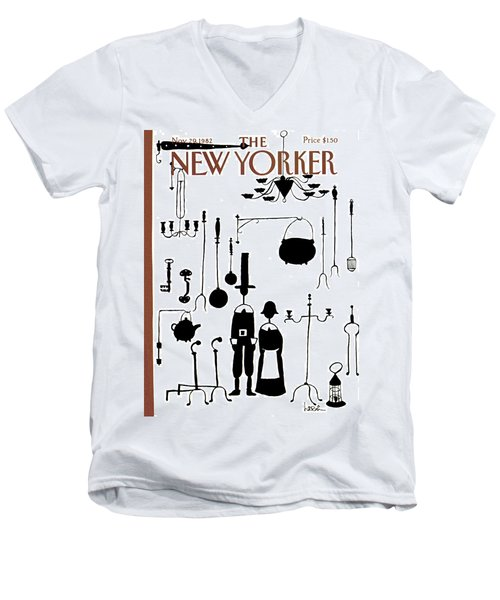 New Yorker November 29th, 1982 Men's V-Neck T-Shirt