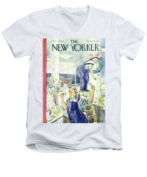 New Yorker November 30 1940 Men's V-Neck T-Shirt
