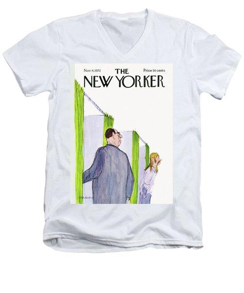 New Yorker November 4th, 1972 Men's V-Neck T-Shirt