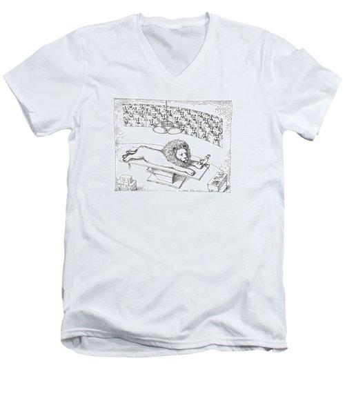New Yorker November 4th, 1991 Men's V-Neck T-Shirt