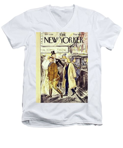 New Yorker November 5 1938 Men's V-Neck T-Shirt