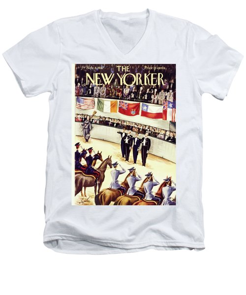 New Yorker November 6 1937 Men's V-Neck T-Shirt
