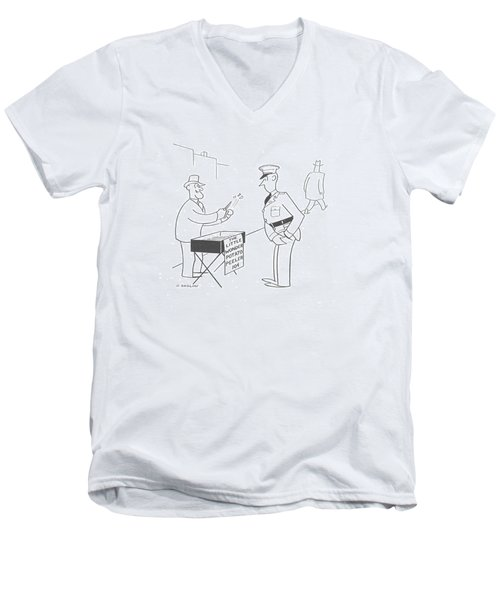 New Yorker November 9th, 1940 Men's V-Neck T-Shirt