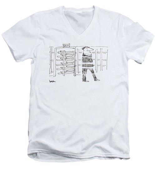 New Yorker October 14th, 1974 Men's V-Neck T-Shirt