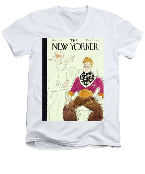 New Yorker October 15 1938 Men's V-Neck T-Shirt