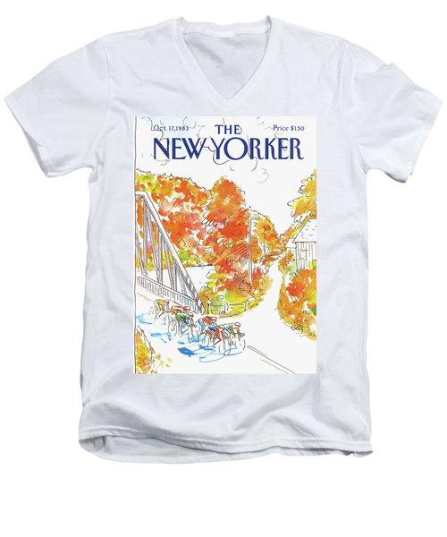 New Yorker October 17th, 1983 Men's V-Neck T-Shirt