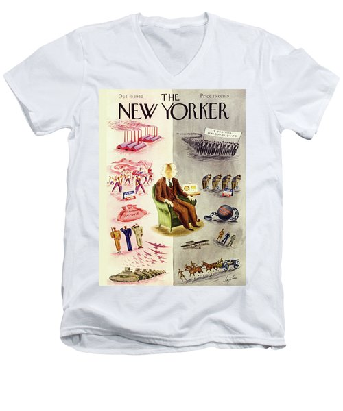New Yorker October 19 1940 Men's V-Neck T-Shirt