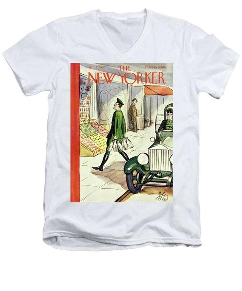 New Yorker October 22 1932 Men's V-Neck T-Shirt