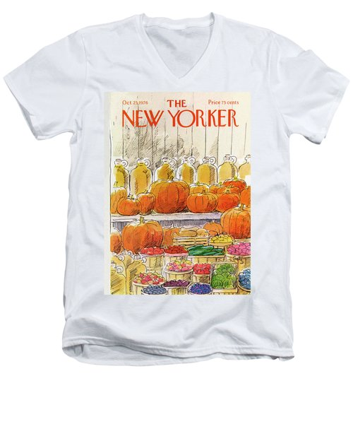 New Yorker October 25th, 1976 Men's V-Neck T-Shirt