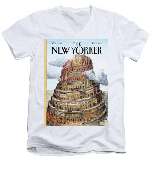 New Yorker October 2nd, 1995 Men's V-Neck T-Shirt