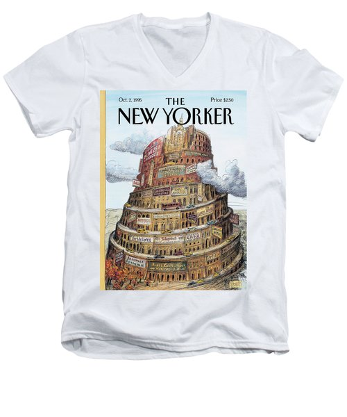 New Yorker October 2nd, 1995 Men's V-Neck T-Shirt