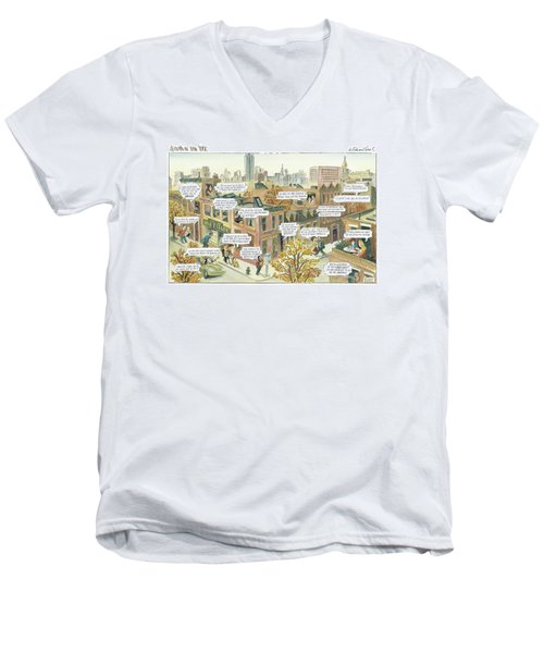 New Yorker October 2nd, 2000 Men's V-Neck T-Shirt
