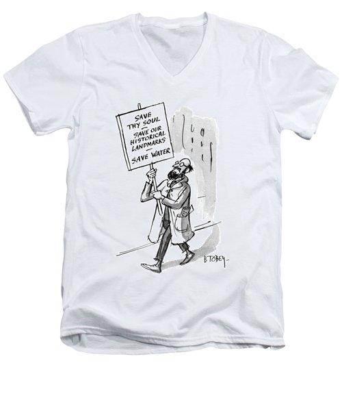 New Yorker October 30th, 1965 Men's V-Neck T-Shirt