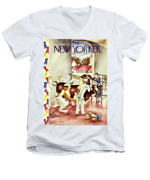 New Yorker October 5 1935 Men's V-Neck T-Shirt