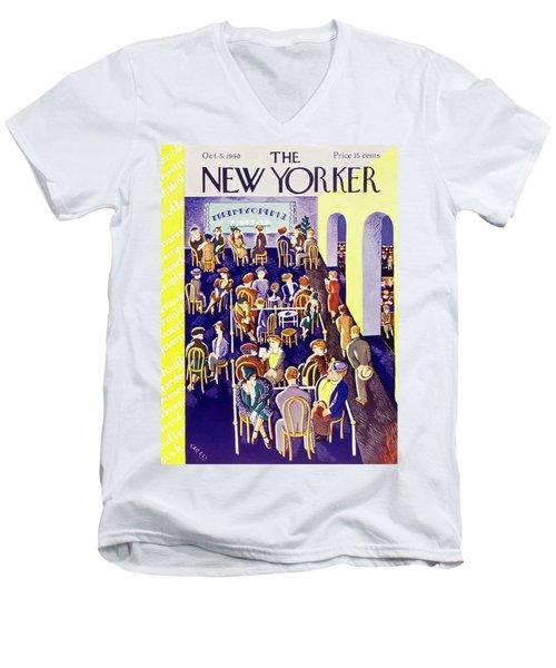 New Yorker October 5 1940 Men's V-Neck T-Shirt