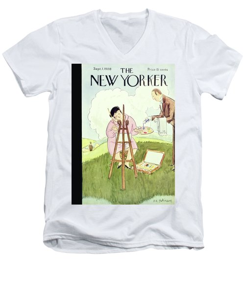 New Yorker September 1 1928 Men's V-Neck T-Shirt