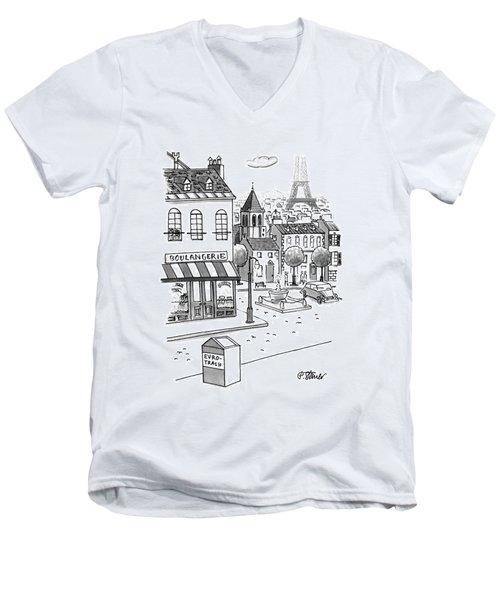 New Yorker September 11th, 1995 Men's V-Neck T-Shirt