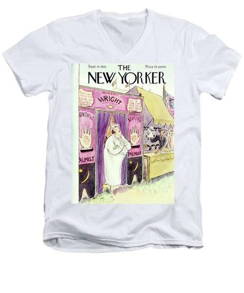 New Yorker September 14 1935 Men's V-Neck T-Shirt