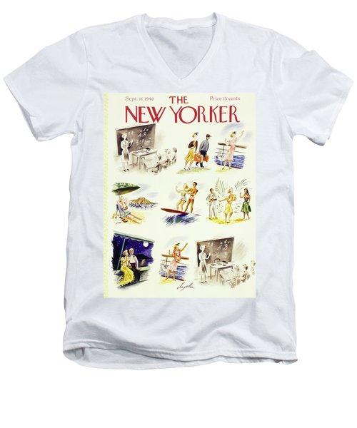 New Yorker September 14 1940 Men's V-Neck T-Shirt