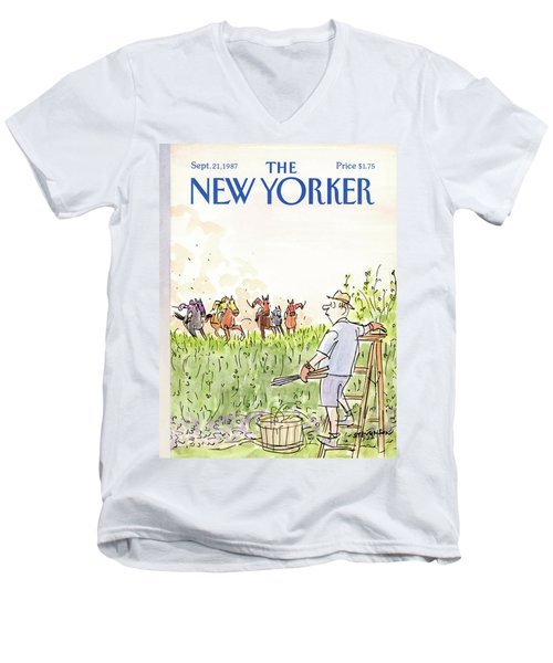 New Yorker September 21st, 1987 Men's V-Neck T-Shirt