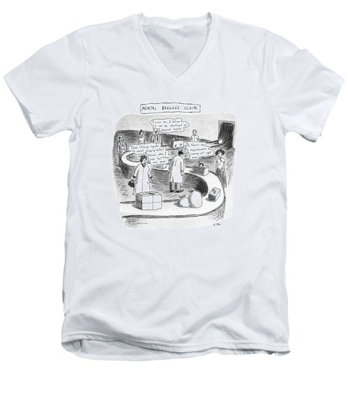 New Yorker September 24th, 1990 Men's V-Neck T-Shirt