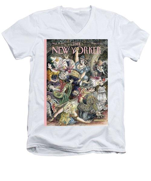 New Yorker September 29th, 1997 Men's V-Neck T-Shirt