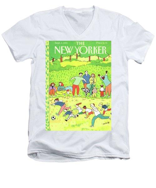 New Yorker September 2nd, 1991 Men's V-Neck T-Shirt