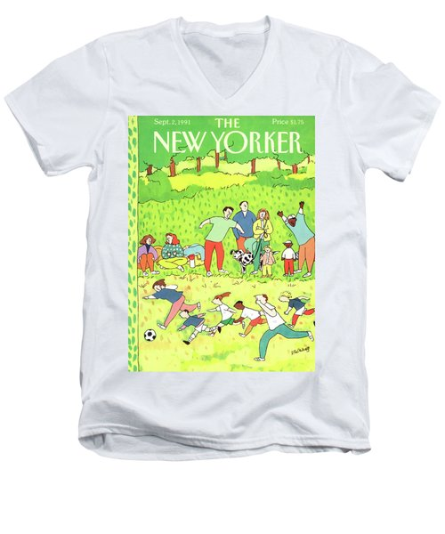 New Yorker September 2nd, 1991 Men's V-Neck T-Shirt
