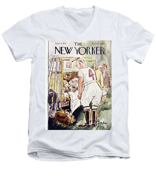 New Yorker September 4 1937 Men's V-Neck T-Shirt
