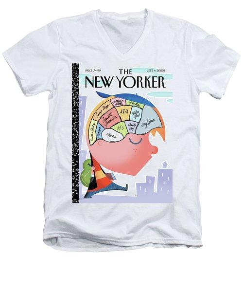 New Yorker September 4th, 2006 Men's V-Neck T-Shirt